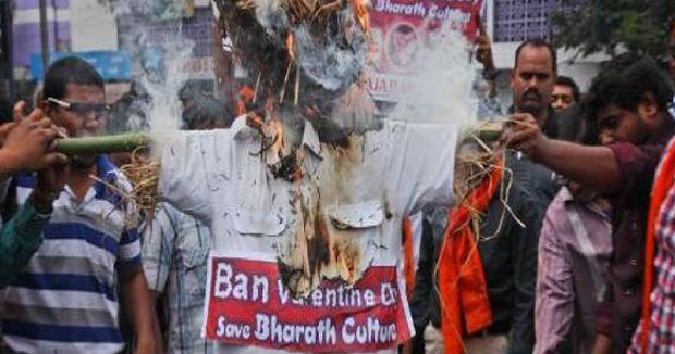 Telugu News Beware lovebirds! Bajrang Dal to make videos of couples on Valentine s Day....
