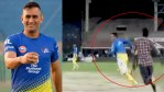 WATCH: Catch me if you can! MS Dhoni, once again, chased by a fan during Chennai Super Kings' practice match