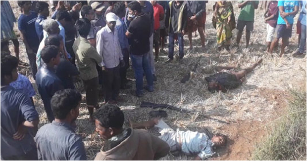 Firing between police and animal hunters in Vizag two hunters died.