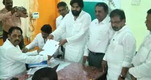 Jana sena party supremo pawan kalyan submitted affidavit along with nomination papers.