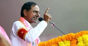 Telangana cm and trs leader kcr response on ram janmabhoomi question raised by bjp leaders in nizamabad meeting