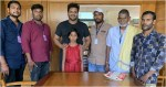 Tollywood actor manchu manoj adopts a girl on his father s birthday.