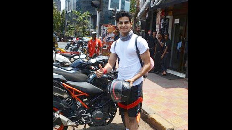 Ishaan Khatter parked his bike in a no parking zone and here's what the Mumbai traffic police did; Watch