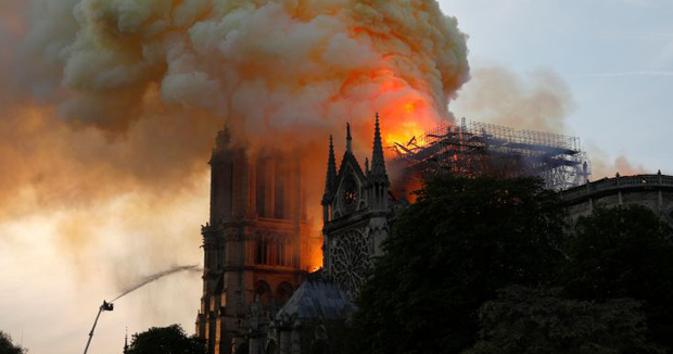 Paris' Notre Dame 'saved from total destruction French fire official says, after blaze ravages cathedral.