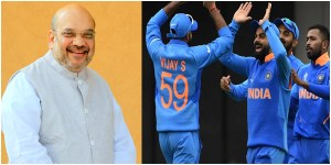 Another strike on Pakistan, says Amit Shah after India destroy Pakistan in World Cup 2019.