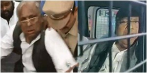 Panjagutta police arrest ex mp v hanumantha rao and harsha kumar.