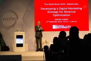 MODUL University Dubai conducting a Masterclass at The Hotel Show 2016