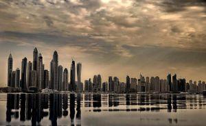 Dubai Marina skyline 2016