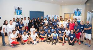 Manchester City Football Club in partnership with Citibank UAE and Emirates Foundation Kafa'at Program hosted a two-day community football coaching and leadership workshop for aspiring sports leaders at New York University Abu Dhabi on October 21 and 22, 2016. The Cityzens Giving Young Leader training forms part of Manchester City Football Club's Cityzens Giving initiative, which supports young leaders around the world to tackle pressing social problems through the power of football.