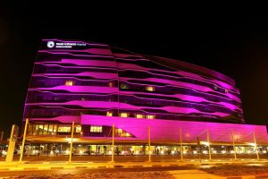 Danat Al Emarat Hospital lit in PINK