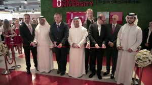 Officials at the opening of MODUL University Dubai on October 10, 2016