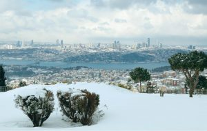 View from Camlica Hills in Istanbul