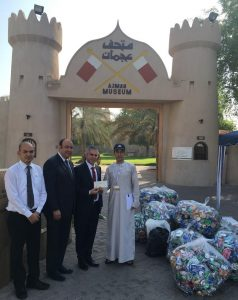 ATDD receives collected cans from one of the hotels in Ajman