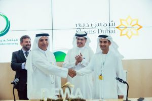 Ivano Ianelli, CEO, Dubai Carbon; HE Ahmed Buti Al Muhairbi, Secretary General, Dubai Supreme Council of Energy; HE Saeed Al Tayer, MD, DEWA; Waleed Salman, Chairman, Dubai Carbon.