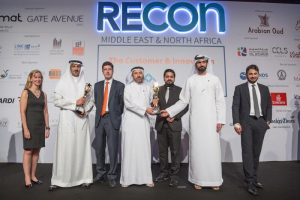 Arabian Centres receiving the award at ReCon MENA in Dubai