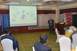 Craig presenting to the Bahrain Indian Society