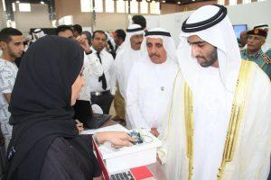 H. H. Sheikh Khalid bin Saud Al Qasimi views AURAK students' projects