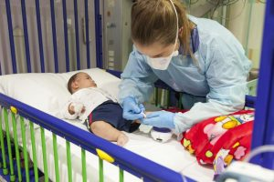 Young child being treated in Endocrinology unit