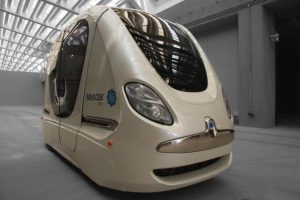 PRT vehicle on test track Masdar