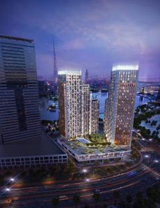 The Atria night view