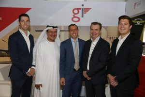 GI Aviation announces GCAA Air Operator's Certificate at MEBAA – left to right: David Lawlor, Head of Projects and Corporate Finance, GI Global Ideas; Yousif Al Hammadi, Director Security & Government Affairs, GI Aviation; Marios T. Belidis, General Manager, GI Aviation; Matti Auterinen, Chairman, Hendell Aviation; Mikael Lees, CEO, Hendell Aviation