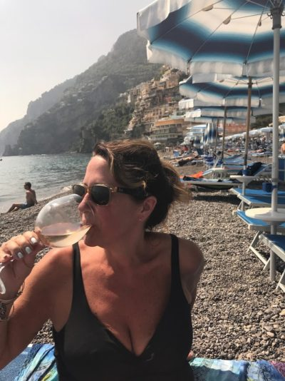 positano beach wine