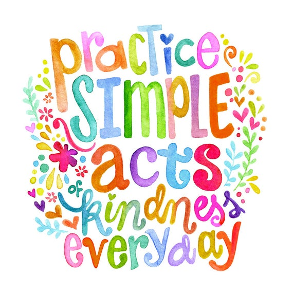 Daily random acts of kindness