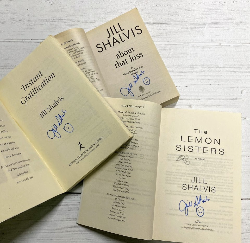Signed books from Jill Shalvis