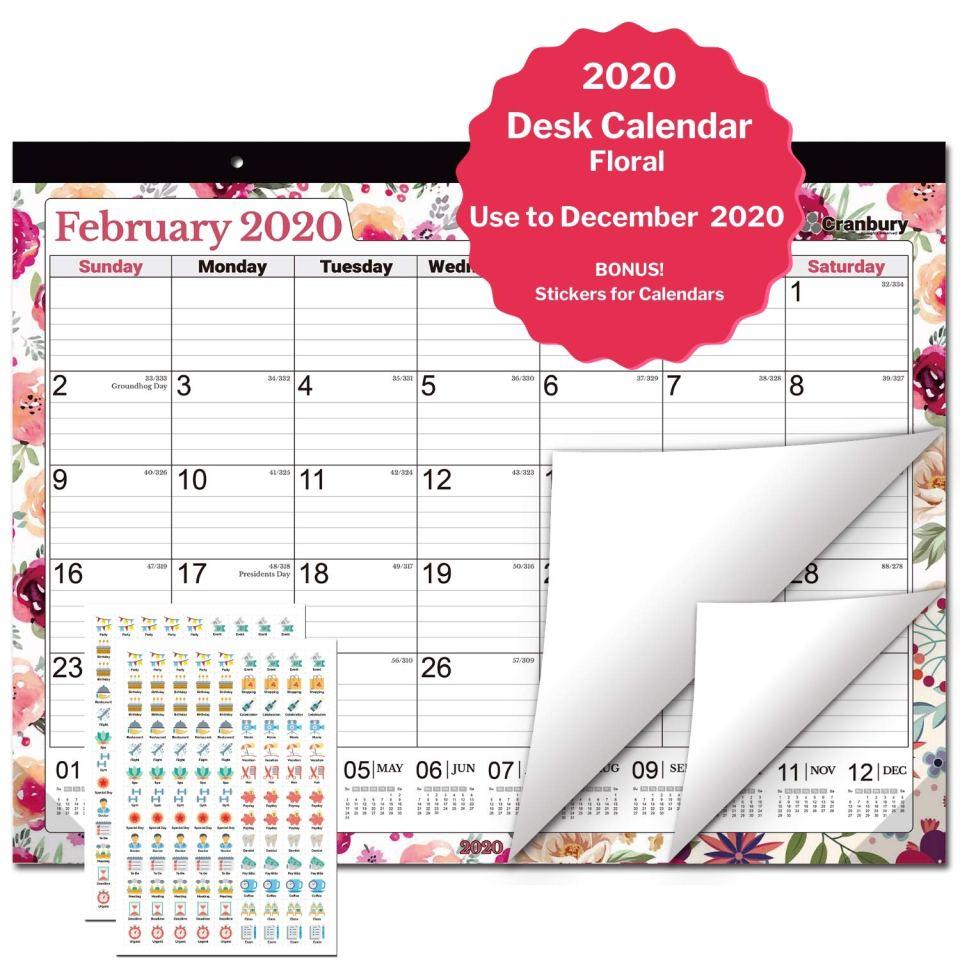 Desk calendar to Get Organized