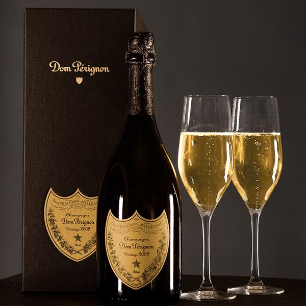 Dom Perignon Bottle and glasses