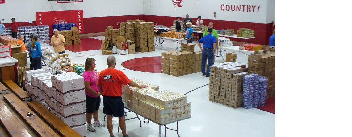 Sharps Chapel Hosts Food Distribution