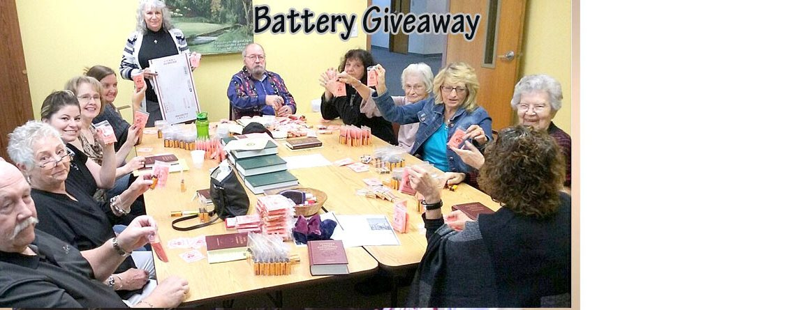 Battery Giveaway, Peace Lutheran, AR