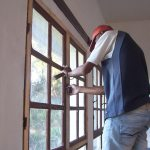 window repairs for glass and frames done LIME, 2017, Madagascar