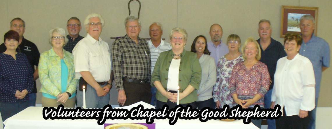 Volunteers from Chapel of the Good Shepherd