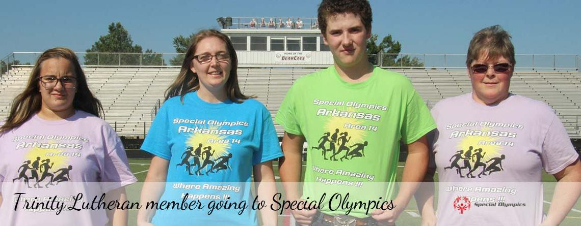 Krista Carstens participating in the Special Olympics