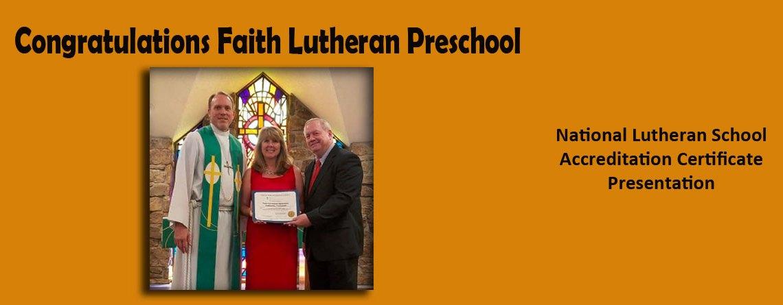 Congratulations Faith Lutheran Preschool