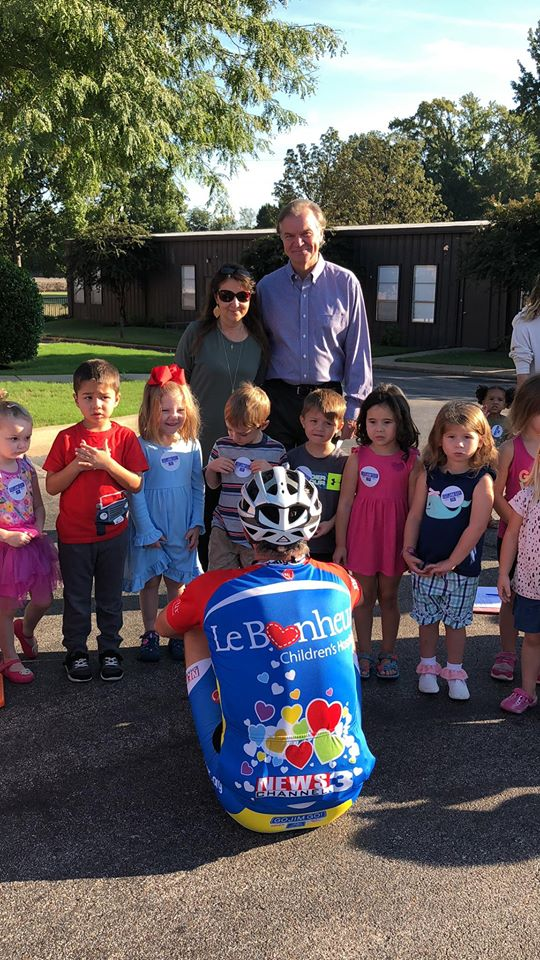 News Channel 3 meteorologist Jim Jaggers has ridden his bicycle 333 miles across the Mid-South, raising more than $800,000 for the children of Le Bonheur