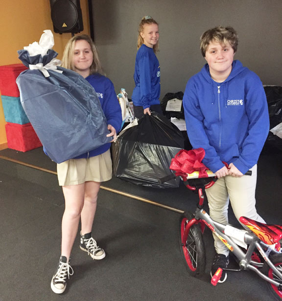Christ Lutheran School generously purchased and wrapped Christmas presents for 55 children currently in foster care.