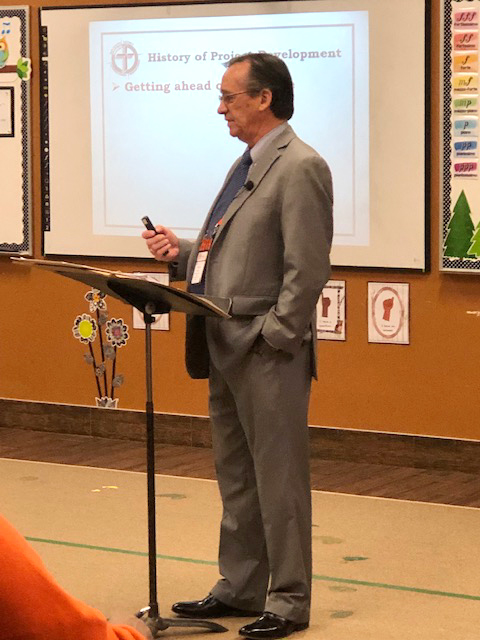 President Roger Paavola, Mid-South District of LCMS presenting at BPM conference