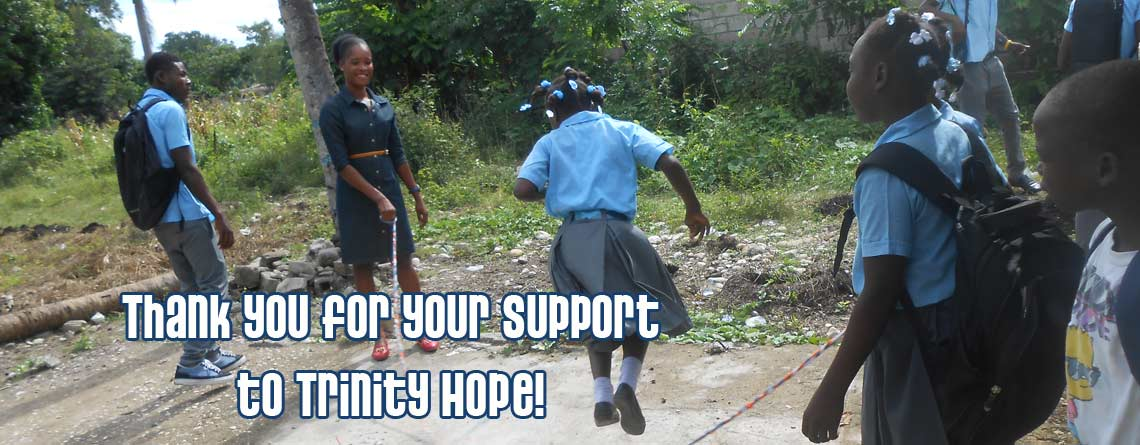 Thank you for your Support to Trinity HOPE!