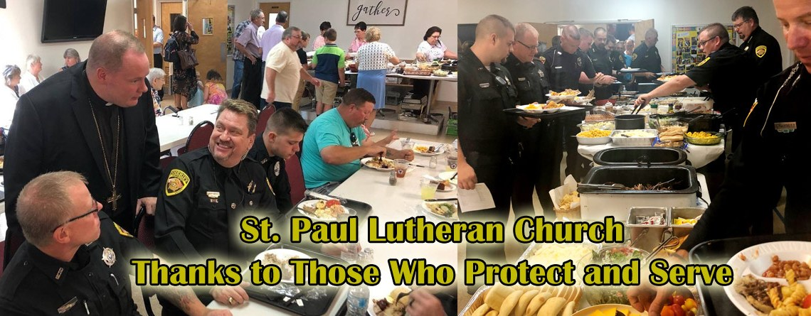 St. Paul Lutheran Church Says Thanks to Those Who Protect and Serve