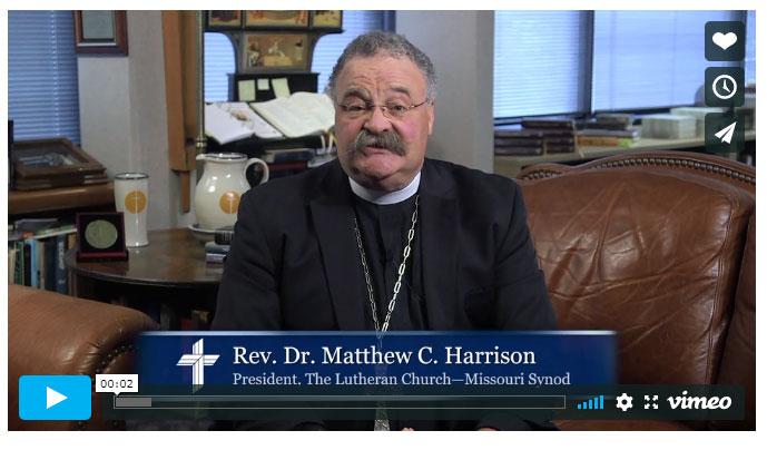 A message from LCMS President Matthew C. Harrison amid the coronavirus pandemic