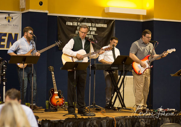 """CTK's own """"Beatles"""" provided musical entertainment for the event."""