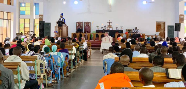 8 men ordained and funeral recently South East of Lake Victoria Diocese of The Evangelical Lutheran Church in Tanzania