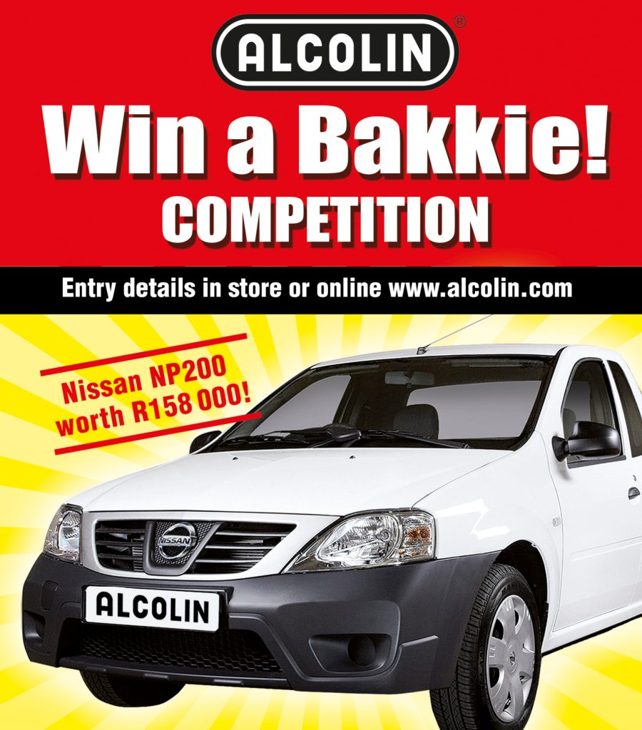 Alcolin Contractors Acrylic Promotion and Win A Bakkie Competition.