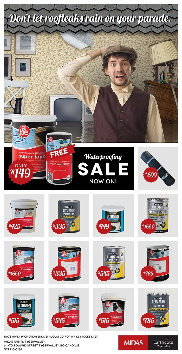 Midas Paints Tygervalley Waterproofing Sale