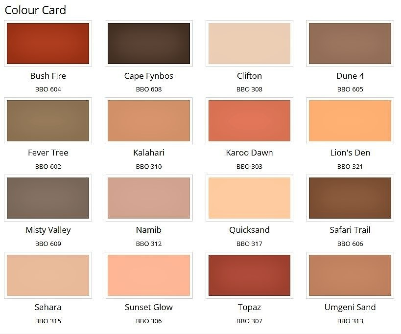 Plascon Micatex Colours Chart