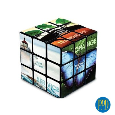 East Coast Marketers Love a Custom Rubik's Cube. Custom Logo Rubiks Cube is now more affordable than ever! Get your logo on all 6 sides! The classicRubik's Cubeis now even better! In 2021business marketerscan get their message and logo on customizedRubik's Cube promotional productwith a FREE logo on all 6 sides!