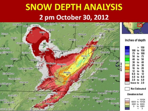 Sandy Snow Depth