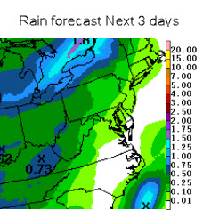 Rain through Saturday
